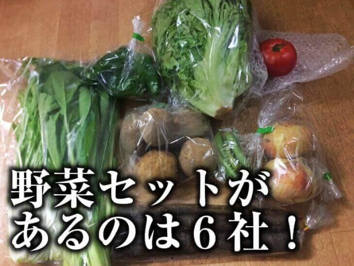 セット品があるのは?セットの内容と野菜一品の平均価格