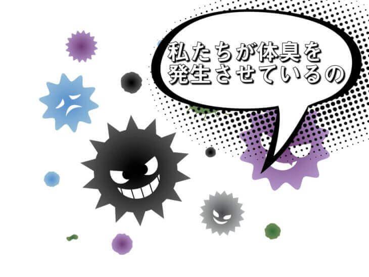 雑菌のタンパク質分解で体臭が発生