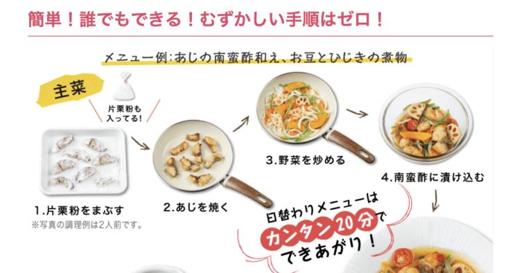 食材がカット済みで簡単調理