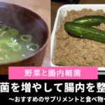 【野菜と腸内細菌(フローラ)】善玉菌を増やすおすすめサプリメントと食べ物