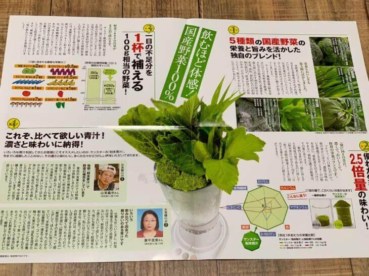 粉末青汁読本(説明書)の中身