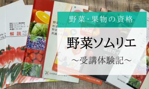 野菜ソムリエとは?取得体験記を公開!|野菜・果物の資格