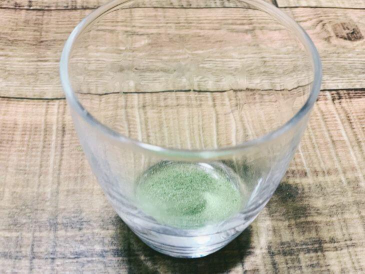 国産三種のこだわり青汁乳酸菌プラスの粉具合